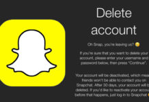 snapchat delete account