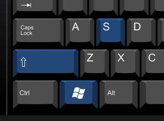 Windows key+Shift+S,